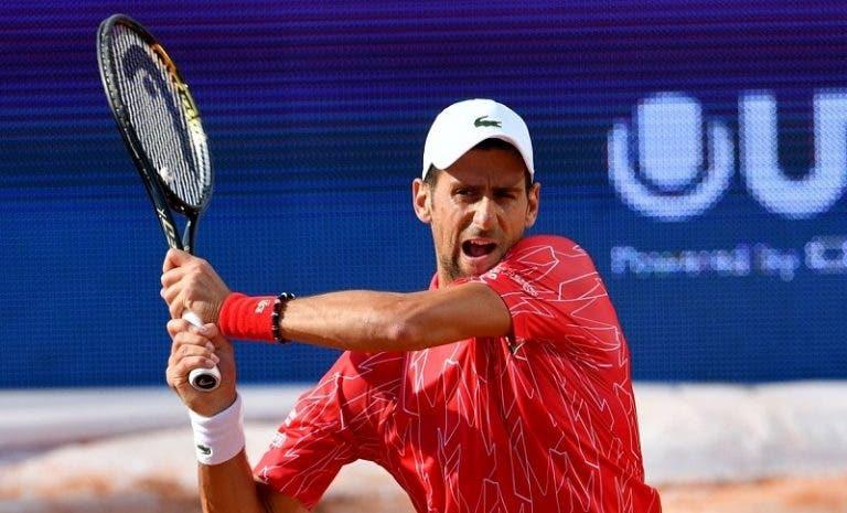 Novak Djokovic regresa a los entrenamientos tras superar el coronavirus