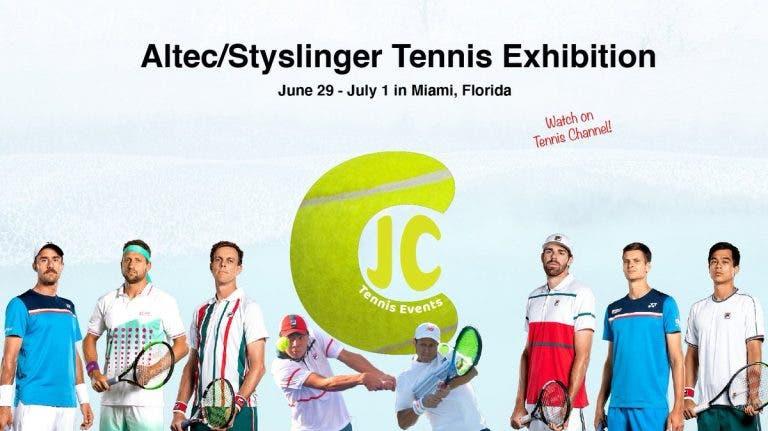 Grandes tenistas participan en torneo de exhibición en Estados Unidos