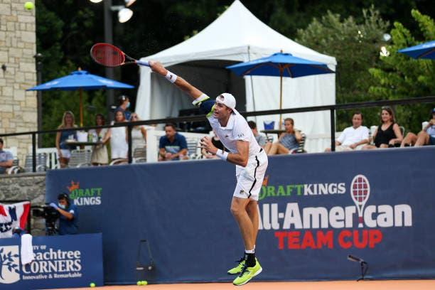 John Isner vence en la segunda jornada del All-American Team Cup