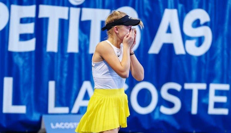 Número 54 WTA derrotada en torneo de exhibición por joven de 13 años