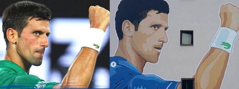 Djokovic, homenajeado con pintura mural en un edificio en Bosnia