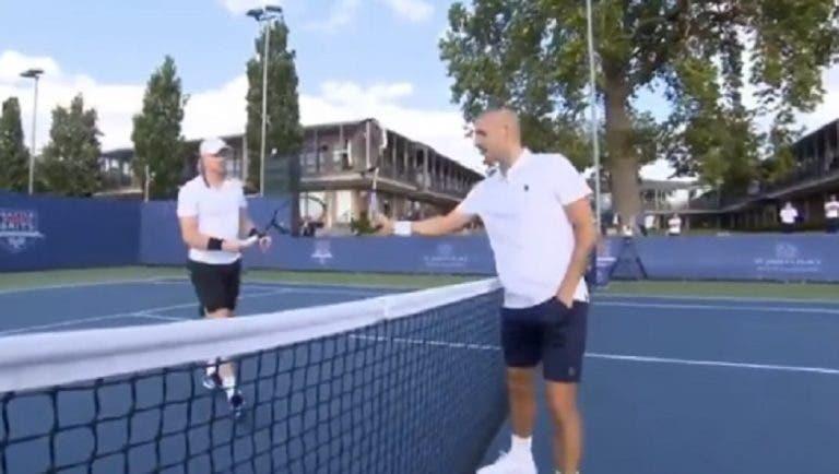 [VIDEO] Momento de tensión al final del partido entre Edmund y Evans