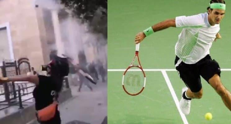 [VIDEO] Raqueta de Federer usada para lanzar bombas en el Líbano