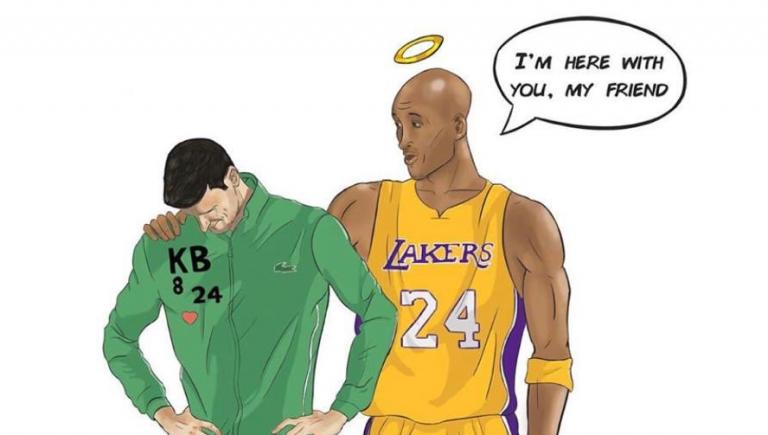 Djokovic recuerda el cumpleaños del basquetbolista Kobe Bryant