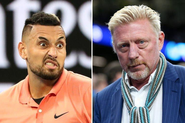 Kyrgios ataca: «Becker pasó de querer entrenarme… a odiarme en Instagram»