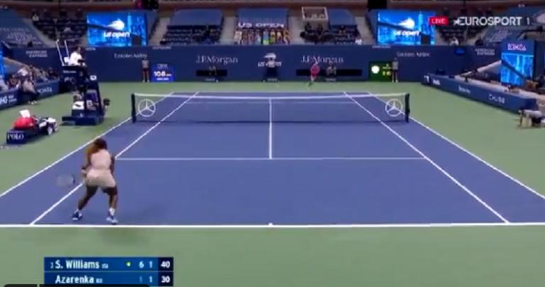 [VIDEO] Azarenka y Serena protagonizan un punto increíble