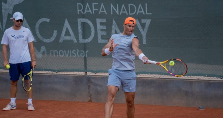 [VIDEO] Rafael Nadal entrena con Grigor Dimitrov en su academia