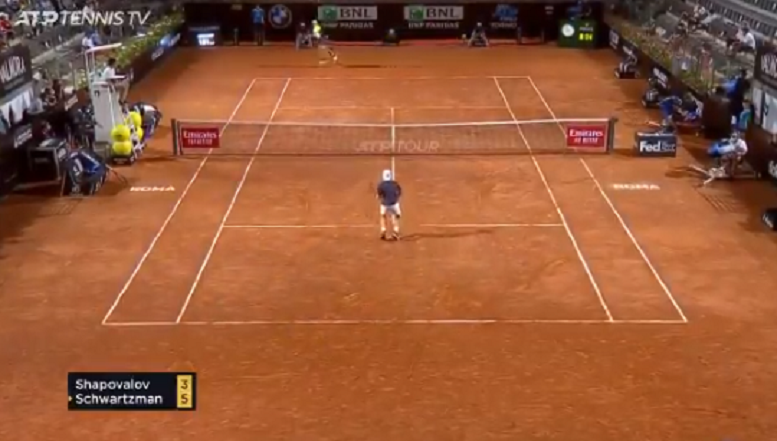[VIDEO] El Peque Schwartzman y Shapovalov dan espectáculo en Roma