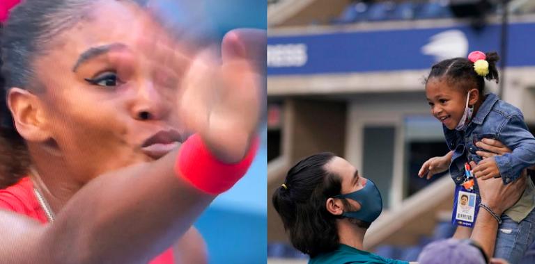 [VIDEO] Serena vive un momento especial con su hija en la cancha