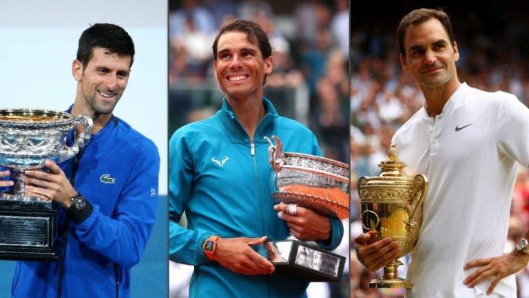 """1° vez en 16 años que el Big Three no está en """"cuartos"""" de un Grand Slam"""