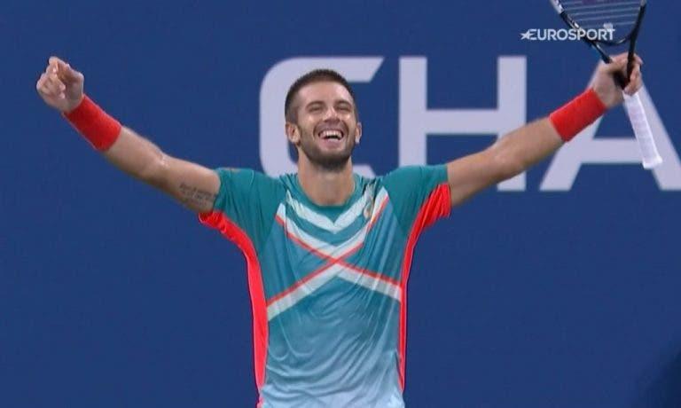 Borna Coric en los 'cuartos' de un Grand Slam por primera vez