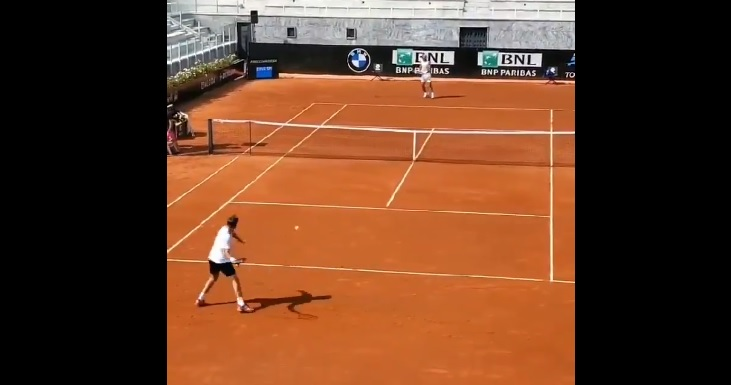 [VIDEO] Nadal y Wawrinka entrenaron juntos en Roma