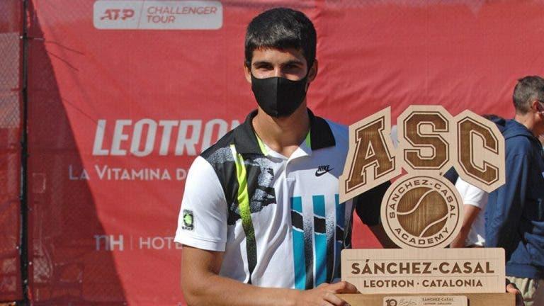 Alcaraz alcanza su 2° título Challenger a los 17 años