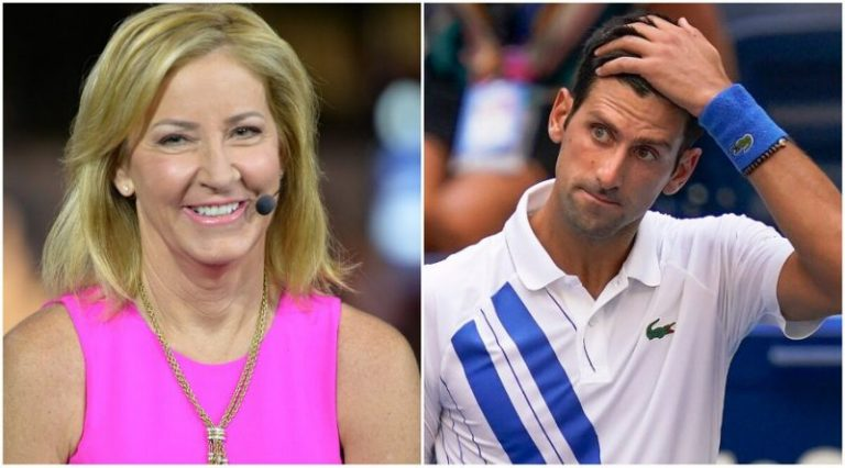 Chris Evert responde a comentario de Novak Djokovic