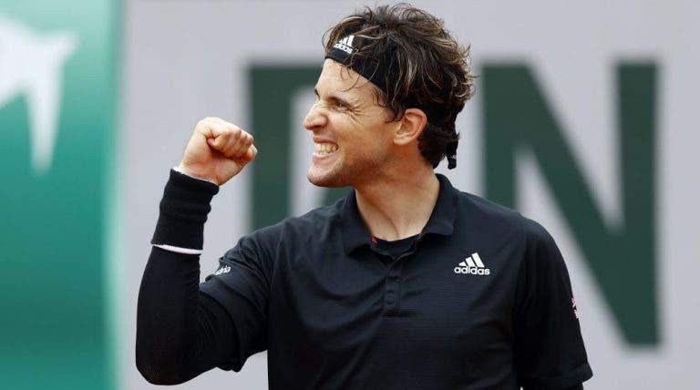 Dominic Thiem ya está en los octavos de final de Roland Garros