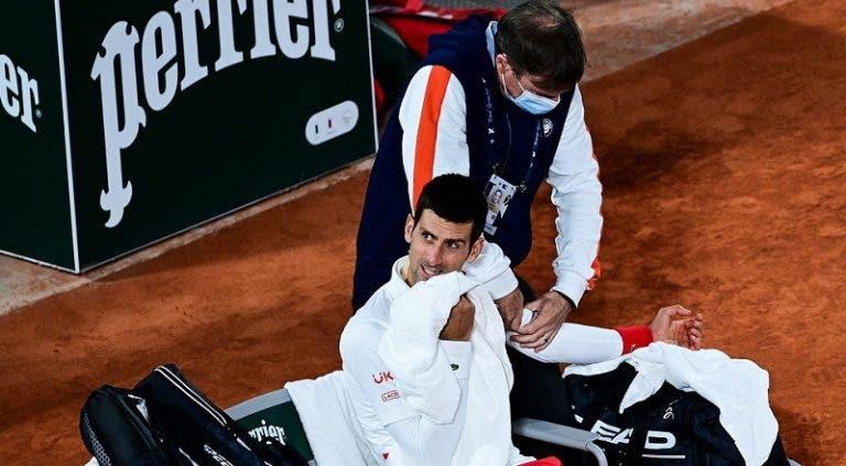Djokovic entrenó al final de la tarde y espera estar al 100% en la semifinal
